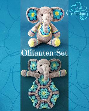 Patroon Olifanten-Set